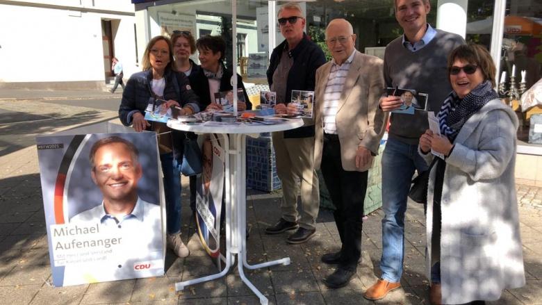 Wahlstand in Wilhelmshöhe